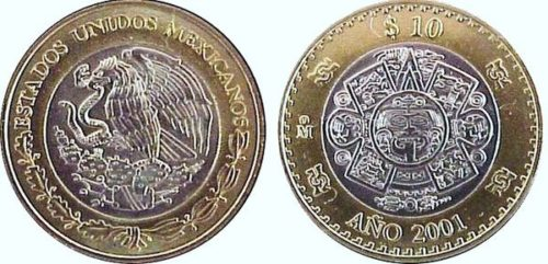 10 pesos 2000-2001