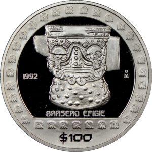 Revers 100 pesos 1992