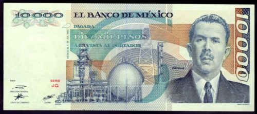 Avers 10000 pesos 1987