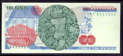 Revers 10000 pesos 1987
