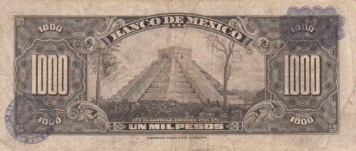 Revers 1000 pesos 1936-1977