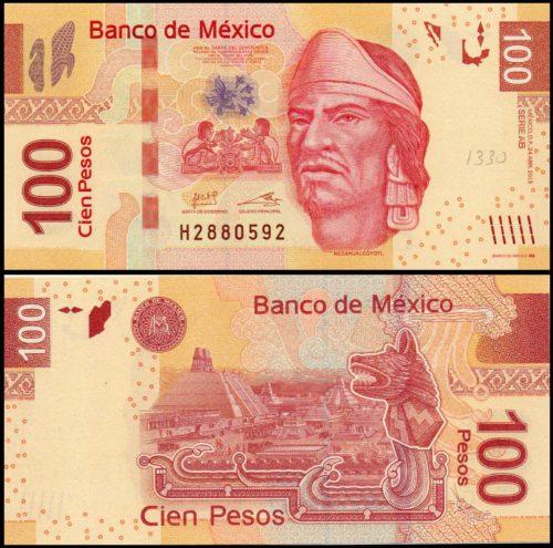 100 pesos Nezahualcóyotl