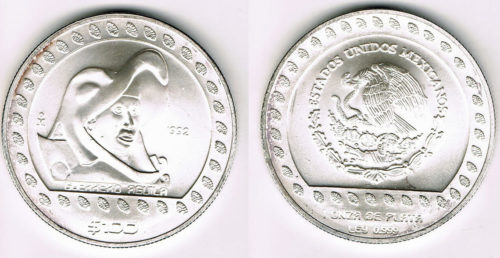 100 pesos 1992