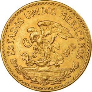 Avers 20 pesos 1918
