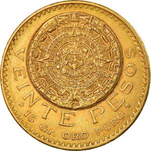 Revers 20 pesos 1918