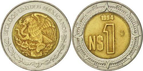 1 nuevo peso 1992-1996