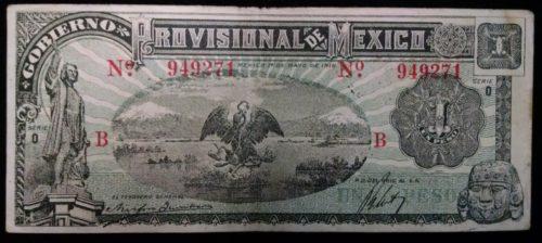 Avers 1 peso 1916
