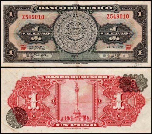 1 peso 1936-1970