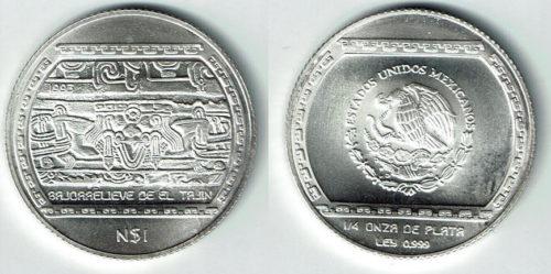 1 nuevo peso 1993 Bajorrelieve de El Tajin