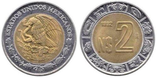 2 nuevos pesos 1993