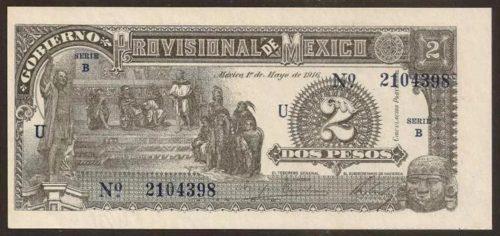 Avers 2 pesos 1916