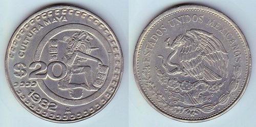 20 pesos 1980-1984