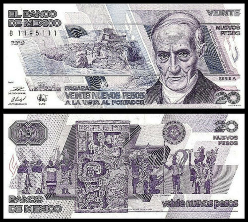20 pesos 1992