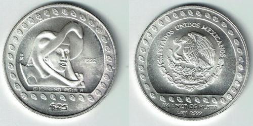 25 pesos 1992