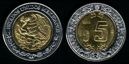 5 pesos 1996
