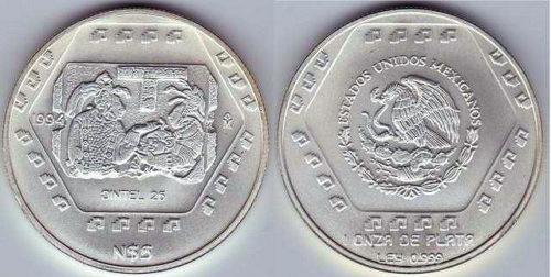 5 nuevos pesos 1994 Dintel 26
