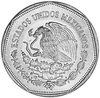 Avers 5 pesos 1980-1985 Quetzalcoatl