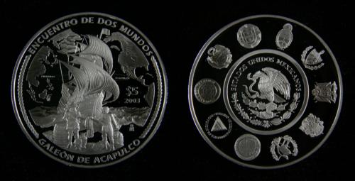 5 pesos 2003 : Galeón de Acapulco