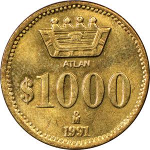 Revers 1000 pesos 1991
