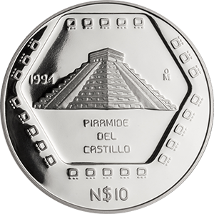 10 nuevos pesos Pirámide del Castillo