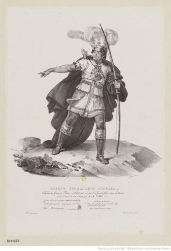 Joseph Teoragaron Ano8ara, chef de la Grande Tortue... arrivé à Paris en 1826... : [estampe] / N. Maurin fecit