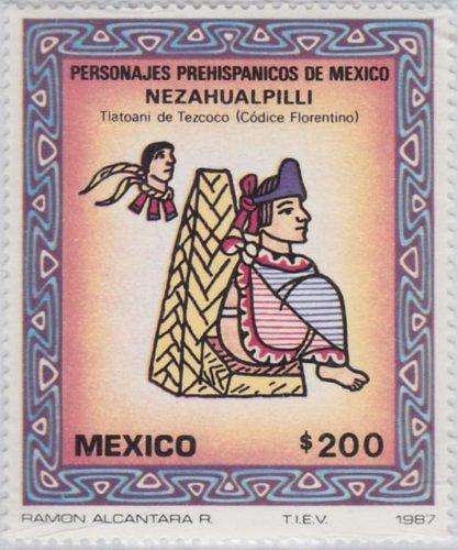 Nezahualpill, talotani de Tezcoco (Codice Florentino)