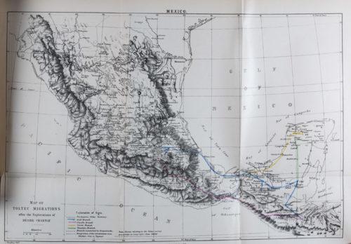 Carte des migrations toltèques