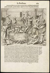 Théodore de Bry (1528-1598),  Americae tertia pars: memorabile provinciae historiam contines, 1592, p. 179 (complète).