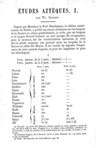 Etudes aztèques. I