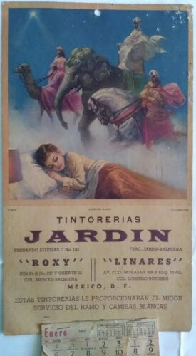 Los reyes magos pour les teintureries Jardin, 1963