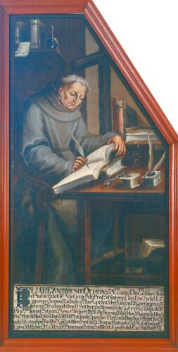 Fray Andrés de Olmos / J. Aquino. Museo Nacional de Historia, Castillo de Chapultepec
