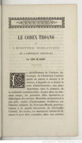 Le Codex Troano et l'écriture hiératique de l'Amérique centrale