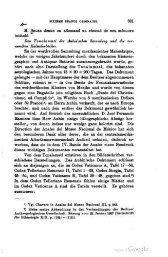 Das Tonalamatl der Aubin'schen Sammlung und die verwandten Kalenderbücher