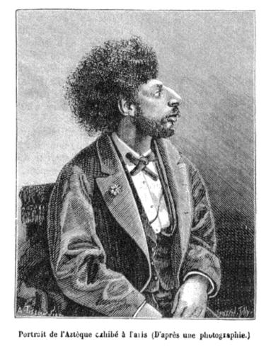 Portrait de l'Aztèque exhibé à Paris (D'après une photographie.)